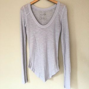 We The Free People Grey/Blue Burnout Top S
